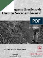 Anais do Congresso Brasileiro de Direito Socioambiental