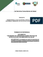 TDR Consultoría Documental de Comadronas Febrero 19