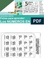 Fichas Para Aprender Los Números en Ingles Para Niños