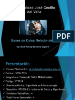 Presentación Bases de Datos Relacionales (Silabo)