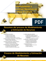 Modelamiento Geologico y Estimación de Recursos - Mina El Limón_.pptx