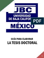 Guía para la elaboración de tesis UBC