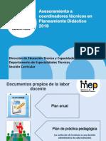 Planeamiento Didactico 2018 Por Educacion Tecnica Seccion Curricular
