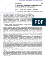 Boley - 1980 - Determination of Foods Synthetic Colours Using HPLC