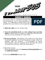 Manual Bounty Hunter 505.pdf