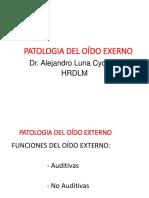 Otorrinolaringología - Clase 1 - Patología Del Oído Externo