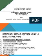 1. Komponen Instalasi Motor Listrik