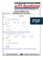 XII-HSC Board Paper Maths Solutions