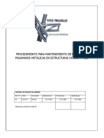 Procedimiento PARA Mantenimiento de Estructuras