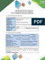 Guía de Actividades y Rúbrica de Evaluación - Fase 2 - Modelos de Indicadores Ambientales