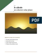 Diseño de Un Colector Solar Plano
