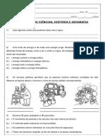 Avaliação Ciencias - Historia e Geografia - Fernanda