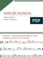 Aula 13 - Exercícios de análise melódica