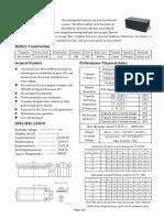 Información técnica Baterías 12/200Ah