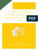 ACTIVIDAD INTEGRADORA  FASE FINAL