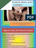 Violencia sexual, abuso, acoso y estupro