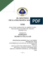 EL  SENTIDO DE LA FILOSOFÍA MARCIAL .