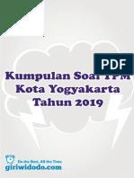 Soal & Kunci Tpm Kota Jogja 2019 Ipa Paket A