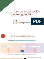 Guía de Uso de La Aplicación Doble Aguinaldo
