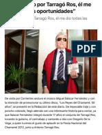 Miguel Salazar Fernández - Diario El Litoral | Corrientes