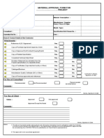 Material Approval Form