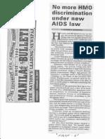 Manila Bulletin, Feb. 27, 2019, No more HMO discrimination under new AIDS law.pdf