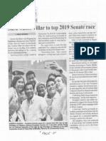 Manila Bulletin, Feb. 27, 2019, Sara wants Villar to top 2019 Senate race.pdf