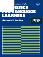 (Contemporary Language Studies) Anthony F. Hartley (auth.) - Linguistics for Language Learners-Palgrave Macmillan UK (1982).pdf