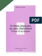 Proust Et La Langue