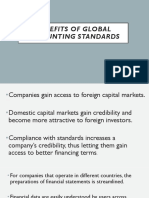 Benefits of Global Accounting Standards