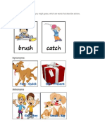 Action Words Synonyms Antonyms