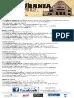 Program Kina Urania 28.2.-6.3.2019