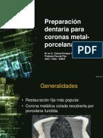 Preparacion de Coronas de Metal