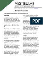 Perilymph Fistula