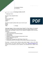 1. Surat Permohonan Izin Tugas Pelatihan Dari Peserta Ke Dekan Atau Kepala Unit