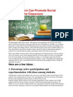 How Teachers Can Promote Social Change in the Classroom_Cristina Macuha