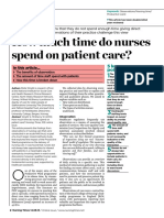 How Much Time Do Nurses Spend on Patient Care