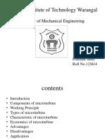 Design Principles of Micro Turbines