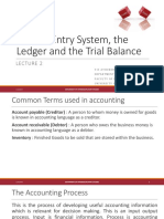2. Double Entry System, The Ledger and the Trial Balance