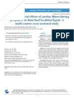 Maternal and Fetal Effects of Cardiac Illness During Pregnancy in Beni Suef LocalitiesEgypt a Multi Centric Cross Sectional Study