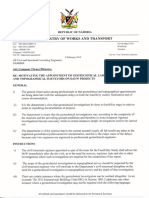 Directives to Civil Engineering Consultants on Appointment of Geotechnical Investigations