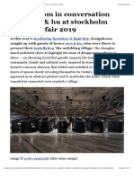 Designboom in Conversation With Neri & Hu at Stockholm Furniture Fair 2019