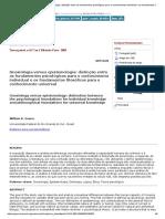 Gnosiologia Versus Epistemologia_ Distinção Entre Os Fundamentos Psicológicos Para o Conhecimento Individual e Os Fundamentos Filosóficos Para o Conhecimento Universal