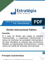 Slides. Direito Internacional. Prof. Daniela Menezes