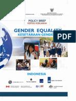 Kesetaraan Gender policy brief
