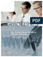 Guidelines Cosmetic Labeling Cosmetics Europe