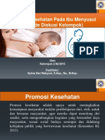 Promosi Kesehatan Pada Ibu Menyusui