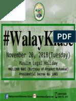 Bulletin Holiday November