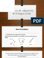 Proceso de Adquisición de La Lengua Escrita