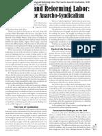 Van Der Walt- Renewing and Reforming Labor - Case for Anarcho-syndicalism